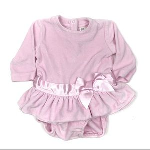 Baby Gap Baby Pink Veour Velvet Long Sleeve Dress